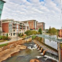 RiverPlace downtown Greenville SC Stock Photography